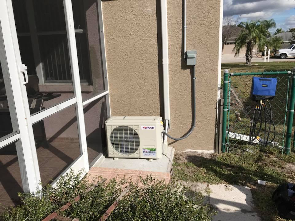 heat pump on side of home